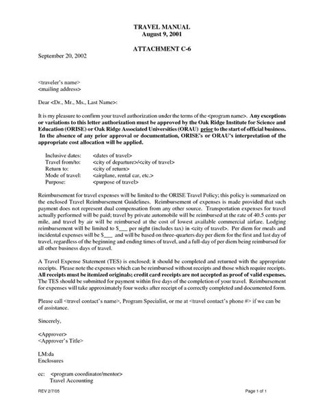 sle of short authorization letter sle relocation
