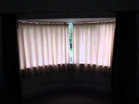 electric curtain track for bay windows a silent gliss 5090 autoglide curtain tack on a bay window
