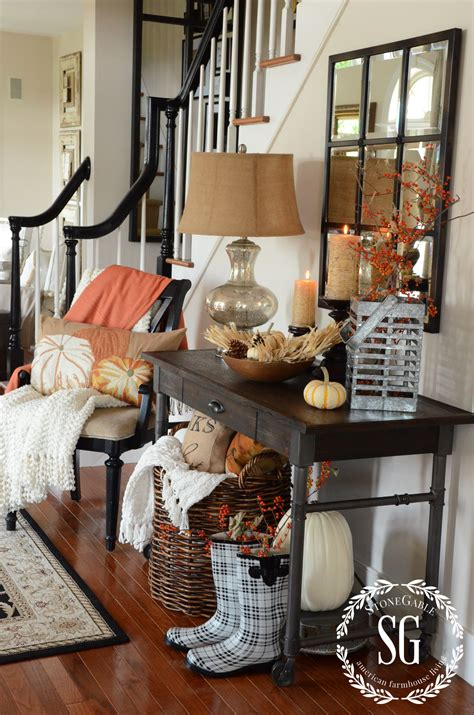 fall house decor fall home tour at stonegable stonegable