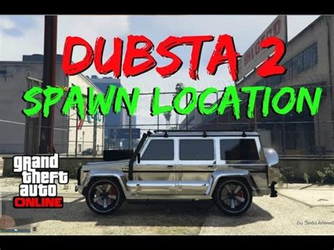 "gta 5 online: ""dubsta 2 spawn location"" with steps listed"