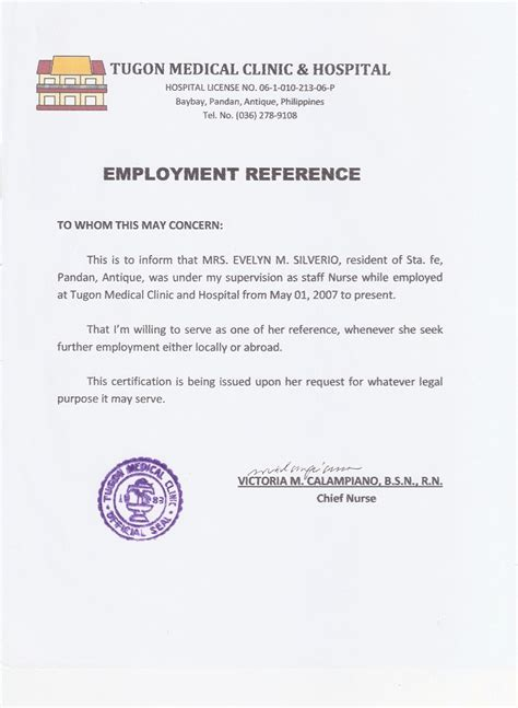 certification letter for caregiver certificate of employment sle caregiver gallery