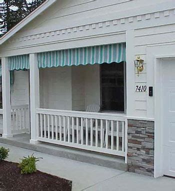 Retractable Fabric Awning Porch Valances Made With Sunbrella Fabric Pyc Awnings