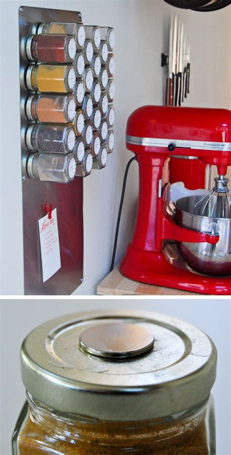 diy organization ideas for small spaces make a magnetic spice rack click pic for 25 diy small apartment decorating ideas on a budget