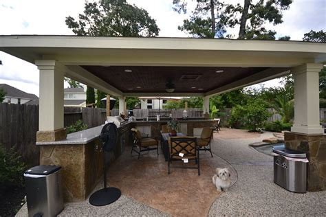 outdoor seating area craftsman space with covered outdoor seating area