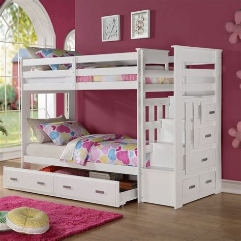acme bunk beds acme furniture allentown twin over twin bunk bed with