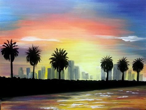 paint nite a island city 21 best paint nite paintings cityscapes images on