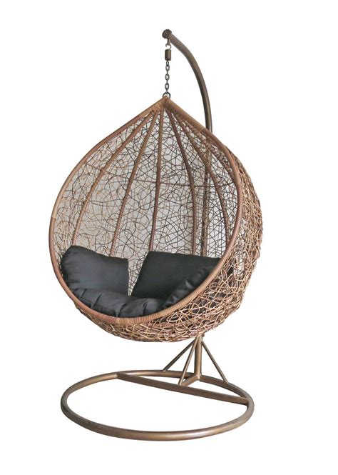 wicker swinging chair rattan swing chair outdoor garden patio hanging wicker