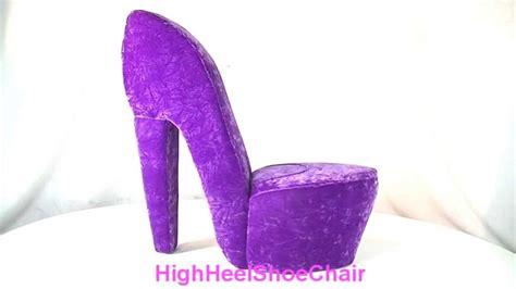 high heel shoe furniture chair purple high heel shoe chair