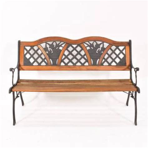 rustic park bench rustic park bench in wood and metal loveseat vintage