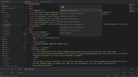 tomorrow theme sublime text 3 boxy it was the most hackable theme for sublime text 3