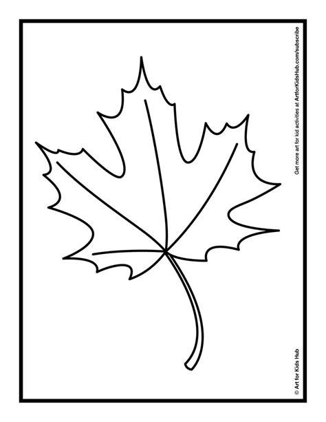 simple leaf coloring page simple leaf template az coloring pages