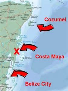 Costa Maya Mexico Map by Costa Maya Mexico Map