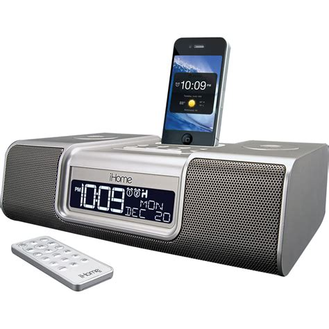 i home ihome ia9 app enhanced dual alarm clock radio ia9szc b h photo