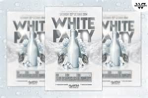white party flyer template flyer templates on creative
