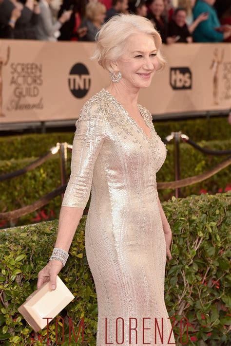 Helen Mirren Has At Sag Awards by Sag Awards 2016 Helen Mirren Werqing Packham Tom