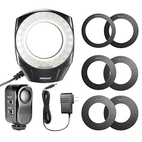 neewer led ring light neewer 48 marco led ring light with 6 adapter rings 49mm