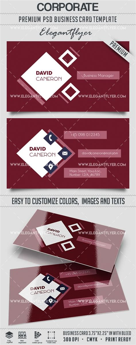 business card template psd 2017 corporate business card template by elegantflyer