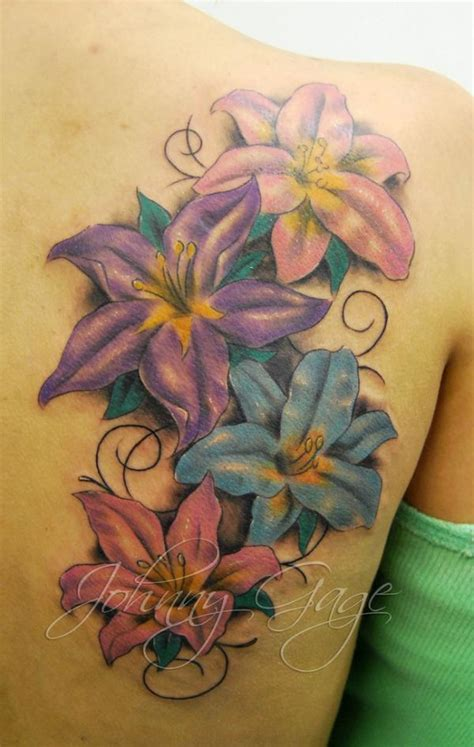 lily shoulder tattoo designs 38 flower designs pretty designs