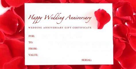 Doc.#942481: Free Wedding Anniversary Gift Certificate