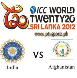 india vs afghanistan t20 match world cup 2012 live streaming
