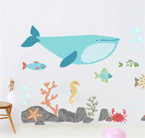 the sea wall stickers children s the sea wall sticker set by oakdene