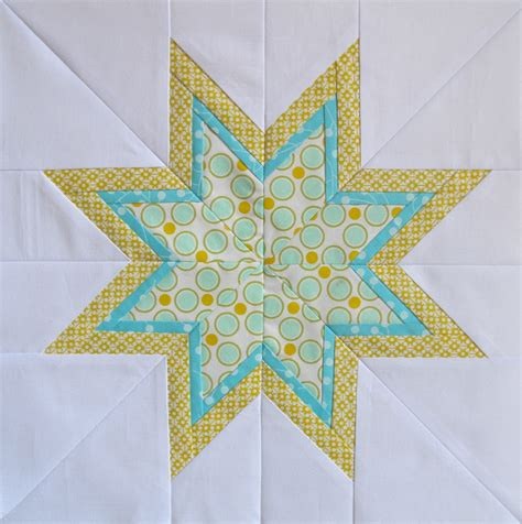 Free Lone Quilt Pattern Template by Six White Horses The Lone Starburst