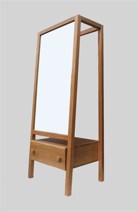 Dressing Cabinet by Free Standing Oak Mirror Dressing Cabinet With Drawer