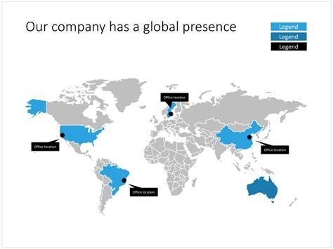 Editable World Map In Powerpoint Slidemagic Editable World Map Powerpoint Template