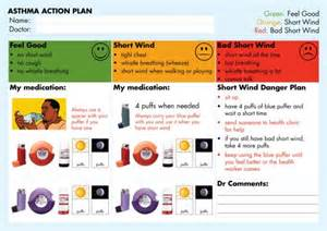 Asthma Care Plan Template by Asthma Plan Exles National Asthma Council