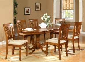 Dining Room Table Sets by 7pc Oval Dining Room Set Table 42 Quot X78 Quot With Leaf And 6