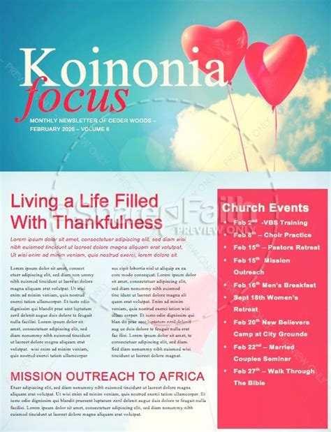 celebrating love valentine s day church newsletter