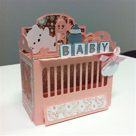 Baby Crib Card Template by Baby Crib Box Card Svgcuts 3d Creations