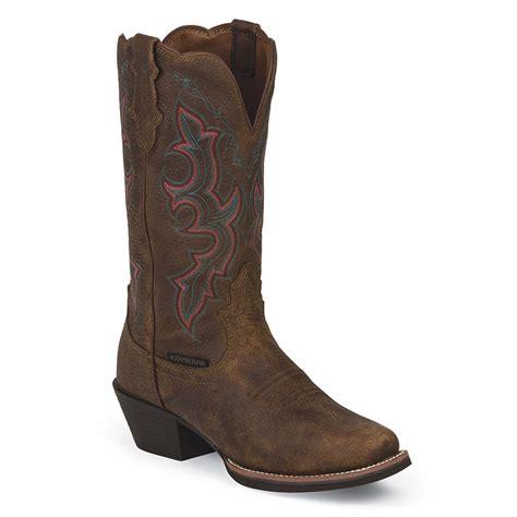 barn boots womens justin s buffalo waterproof western boots boot barn