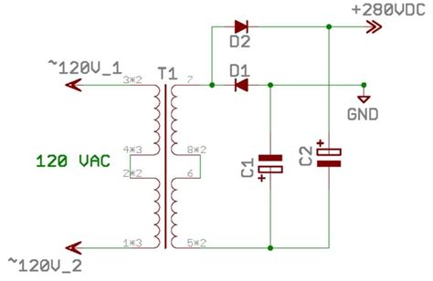 voltage multiplier capacitor size diodes is the circuit a voltage doubler or not electrical engineering stack exchange