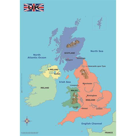 map uk simple map of the uk education