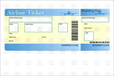 airline ticket invitation template free template plane ticket invitation template