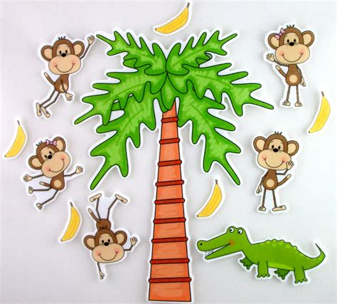five cheeky monkeys swinging in a tree five little monkeys swinging from a tree felt board by bymaree
