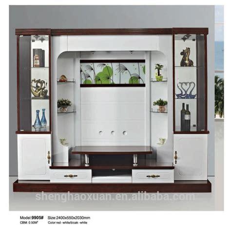 shx design living room tv set furniture 9905 led tv wall