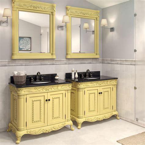 White Bathroom Vanity With Black Granite Top Jeffrey Antique White Ornate Bathroom Vanity With Black Granite Top Porcelain Sink