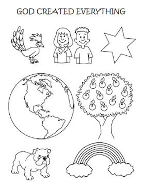 God Created Everything Coloring Pages coloring page god created everything