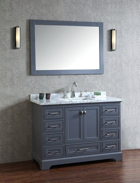 48 inch bathroom mirror anele 48 inch gray bathroom vanity with mirror carrara