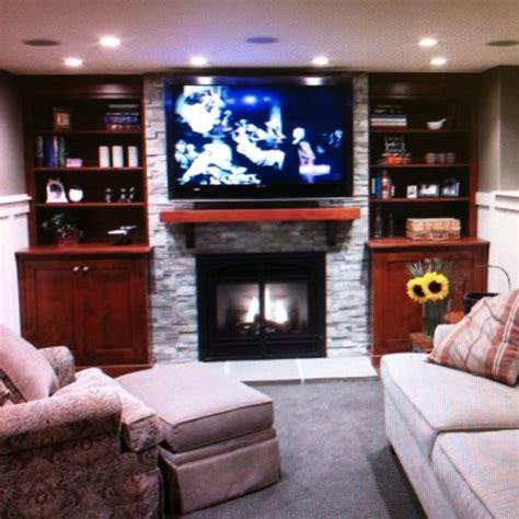 Fireplaces And Tv Ideas by Fireplace Tv Niche Idea Basement Ideas
