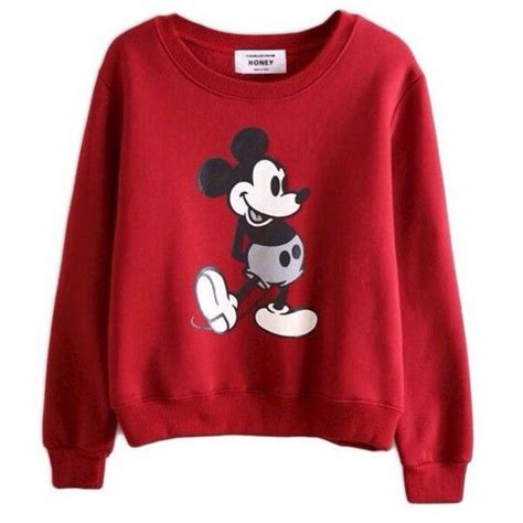 Longsleeve Mobuse sweater mickey mouse sweatshirt sleeves liked on polyvore featuring tops hoodies