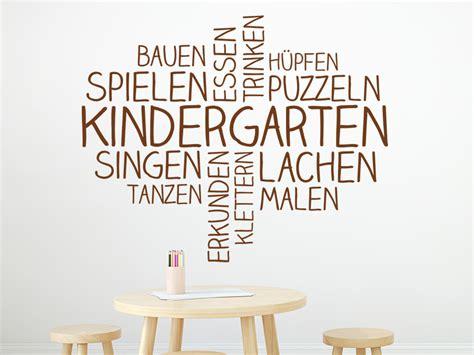 kita kinderzimmer tag der offenen tur wandtattoo wortwolke kindergarten wandtattoo de