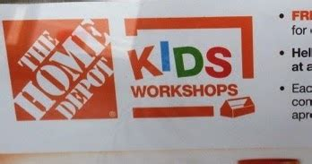 kidding around home depot workshops registration requested