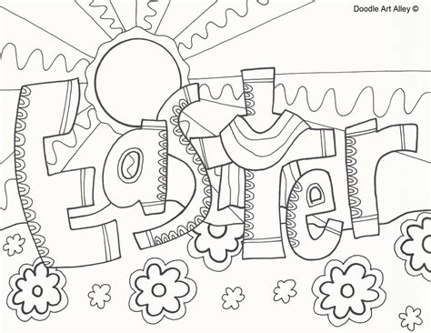 Catholic Easter Card Template by Religious Easter Coloring Pages Doodle Alley