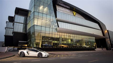 mercedes showroom exterior in dubai the worldwide largest lamborghini showroom