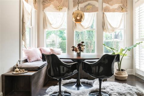 bohemian maximalist eclectic dining room austin