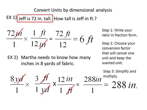 Dimensional Analysis Problems Conversion Factors Worksheet Answers