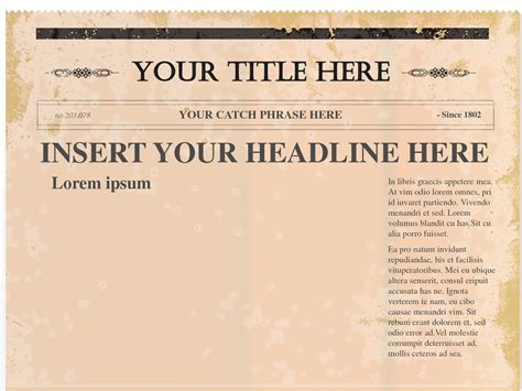 Free Newspaper Template E Commercewordpress Powerpoint Newspaper Templates
